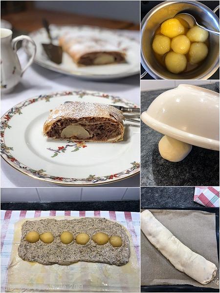 Birnen-Lebkuchen-Strudel Collage