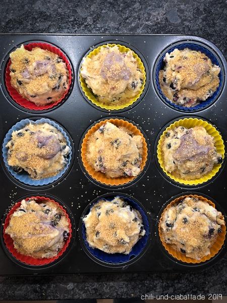 Heidelbeer-Muffins vor dem Backen
