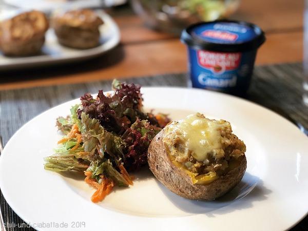 Backkartoffeln mit Rillettes