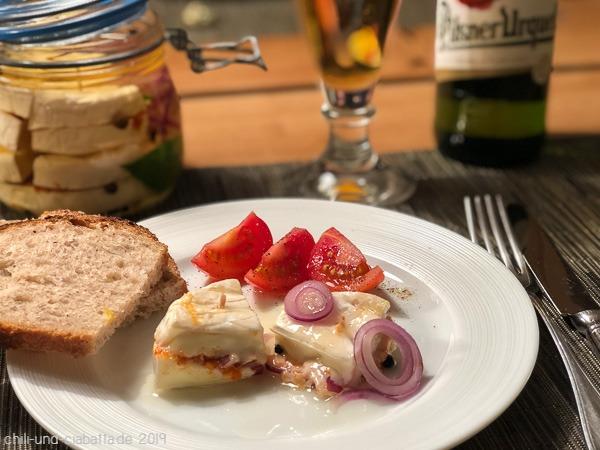 Hermelin mit Brot