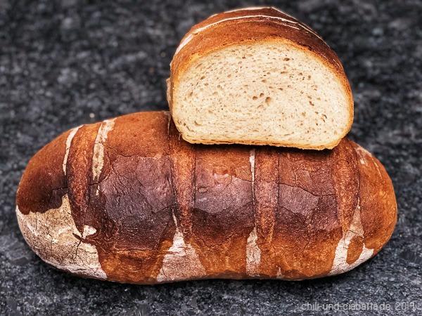 Anschnitt Weißes Brot