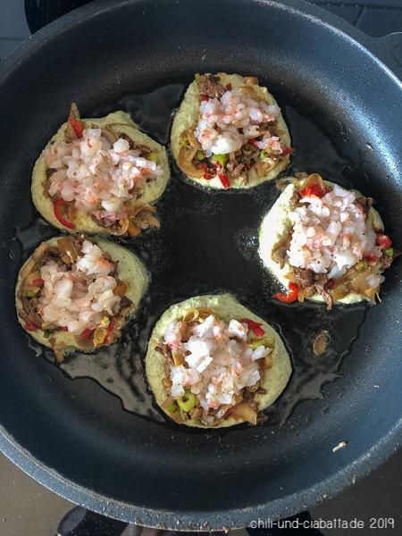 Mungbohnenpfannkuchen Pfanne