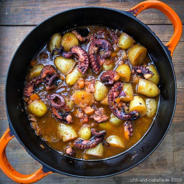 polpo al forno con patate