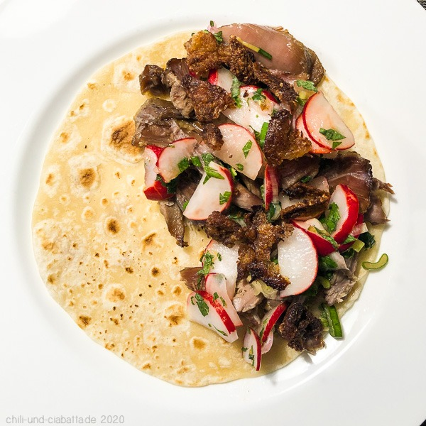 Duck Carnitas Tortilla