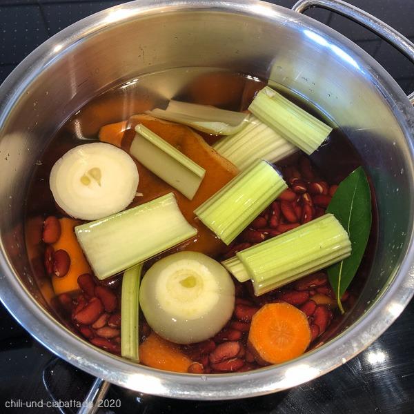 Bohnen kochen