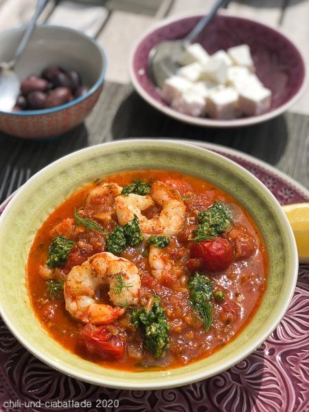 Garnelen-Tomaten-Pfanne