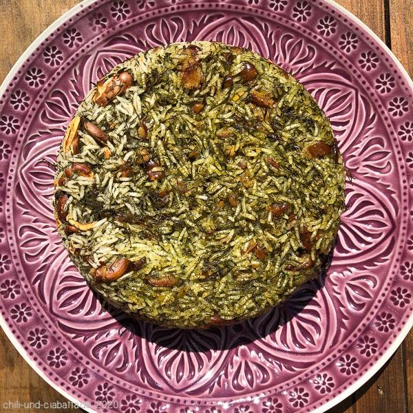 Persischer Reis mit Dill und Favabohnen
