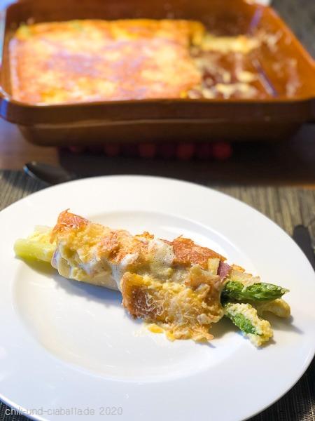 Überbackene Spargel-Schinken-Cannelloni 2