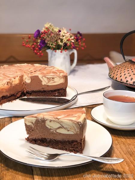 Marmormousse-Kuchen