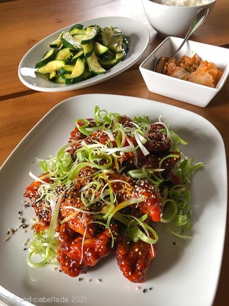Koreanische Chicken Wings