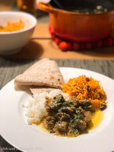 Lamm mit Pickled Mangos und Joghurt
